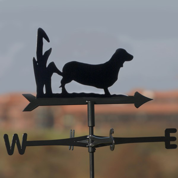 DACHSHUND WEATHERVANE in Black by The Profiles Range