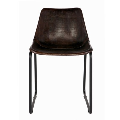 Dark Brown Leather Chairs Vintage Chic ...