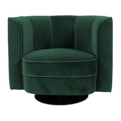 Dutchbone Art Nouveau Flower Tub Chair in Green