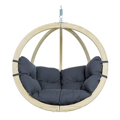 Globo Garden Hanging Chair in Weatherproof Anthracite