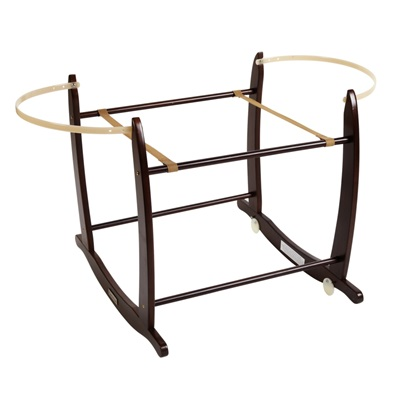 DELUXE ROCKING MOSES BASKET STAND in Dark Brown