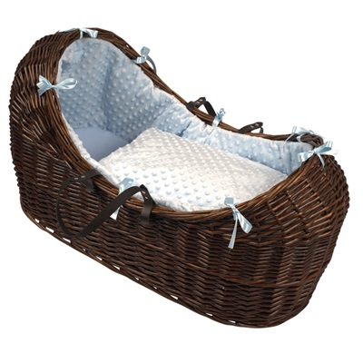 BABY SNOOZE POD in Dark Wicker & Dimple Fabric