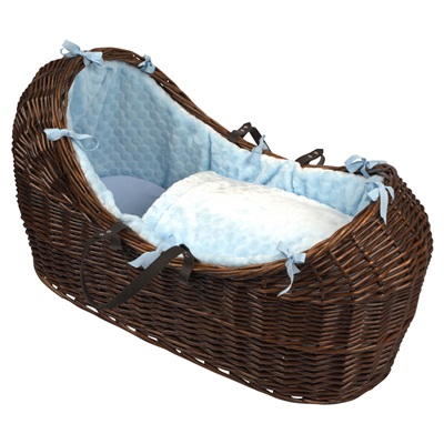 BABY SNOOZE POD in Dark Wicker & Marshmallow Fabric