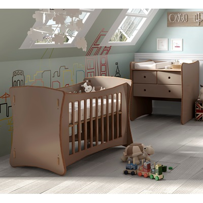 BABIES ADJUSTABLE HEIGHT ROCKER COT in David Design