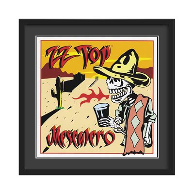 ZZ TOP FRAMED ALBUM WALL ART in Mescalero Print