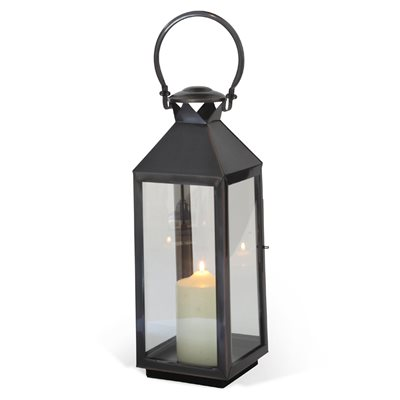 Image of Culinary Concepts Chelsea Garden Lantern in Stainless Steel with Bronze Finish - Large