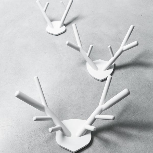 Wooden Decorative Deer Antlers in White