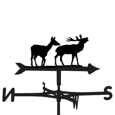 WEATHERVANE in Pair of Deer Design