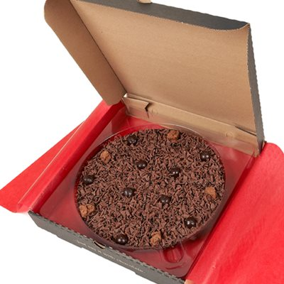"7"" DELIGHTFULLY DARK PIZZA by The Gourmet Chocolate Pizza Company"