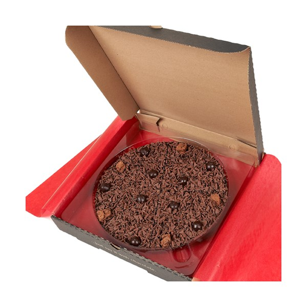 Delightfully Dark Chocolate Pizza by the Gourmet Chocolate Pizza Company