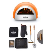 Product photograph showing Delivita Outdoor Pizza Oven Wood Fired Collection - Chilli Red