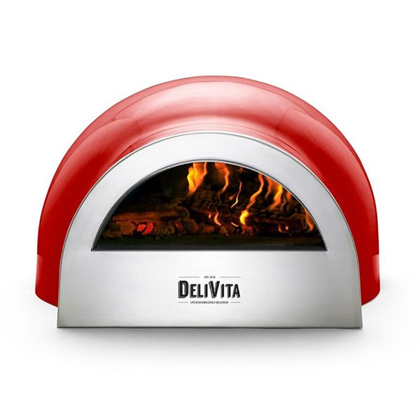 DeliVita Outdoor Pizza Oven in Chilli Red