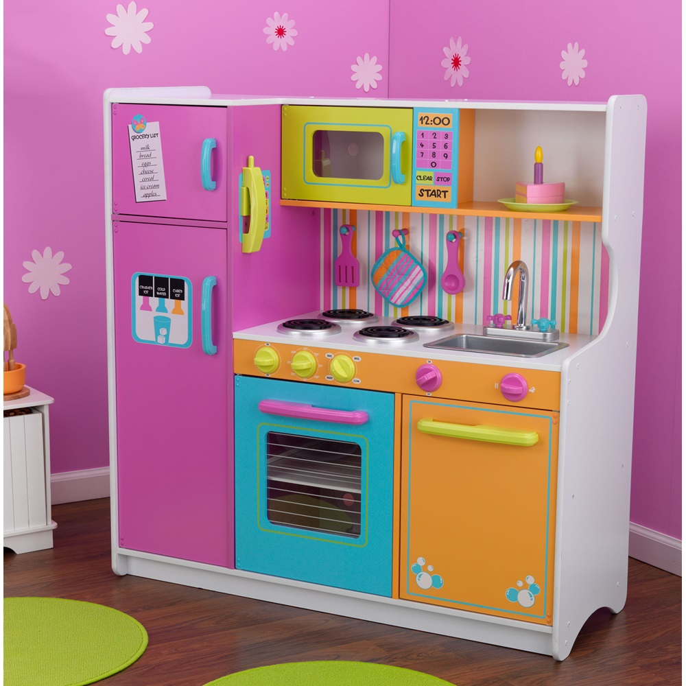 Kids big and bright kitchen toys playhouses cuckooland for Girls kitchen playset