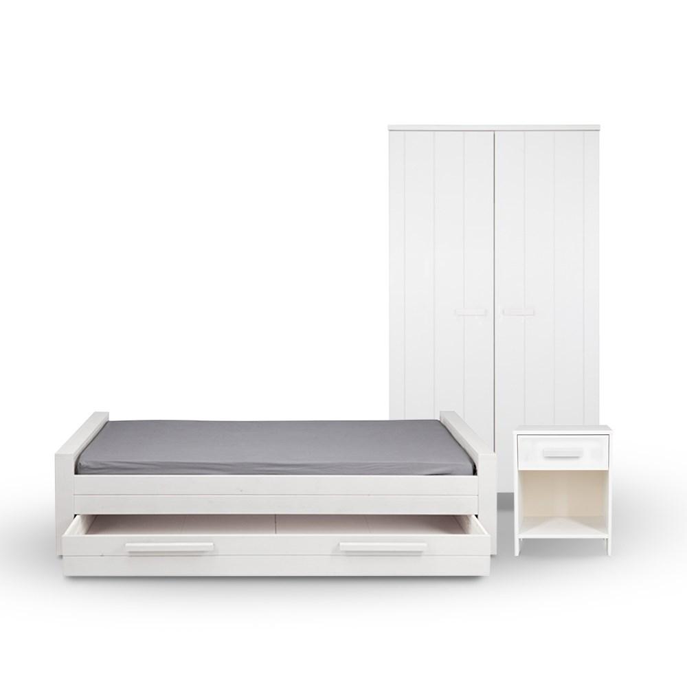 Woood Dennis Bed.Dennis Kids Bedroom Furniture Set Available In 3 Colours By Woood