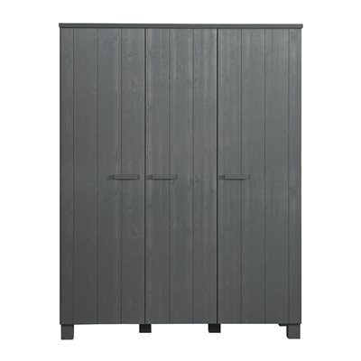 DENNIS KIDS CONTEMPORARY TRIPLE WARDROBE in Steel Grey