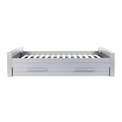 DENNIS KIDS SINGLE BED WITH TRUNDLE DRAWER in Concrete Grey