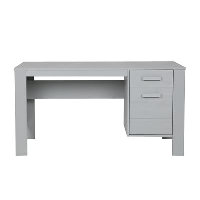 Dennis Computer & Office Desk in Concrete Grey by Woood