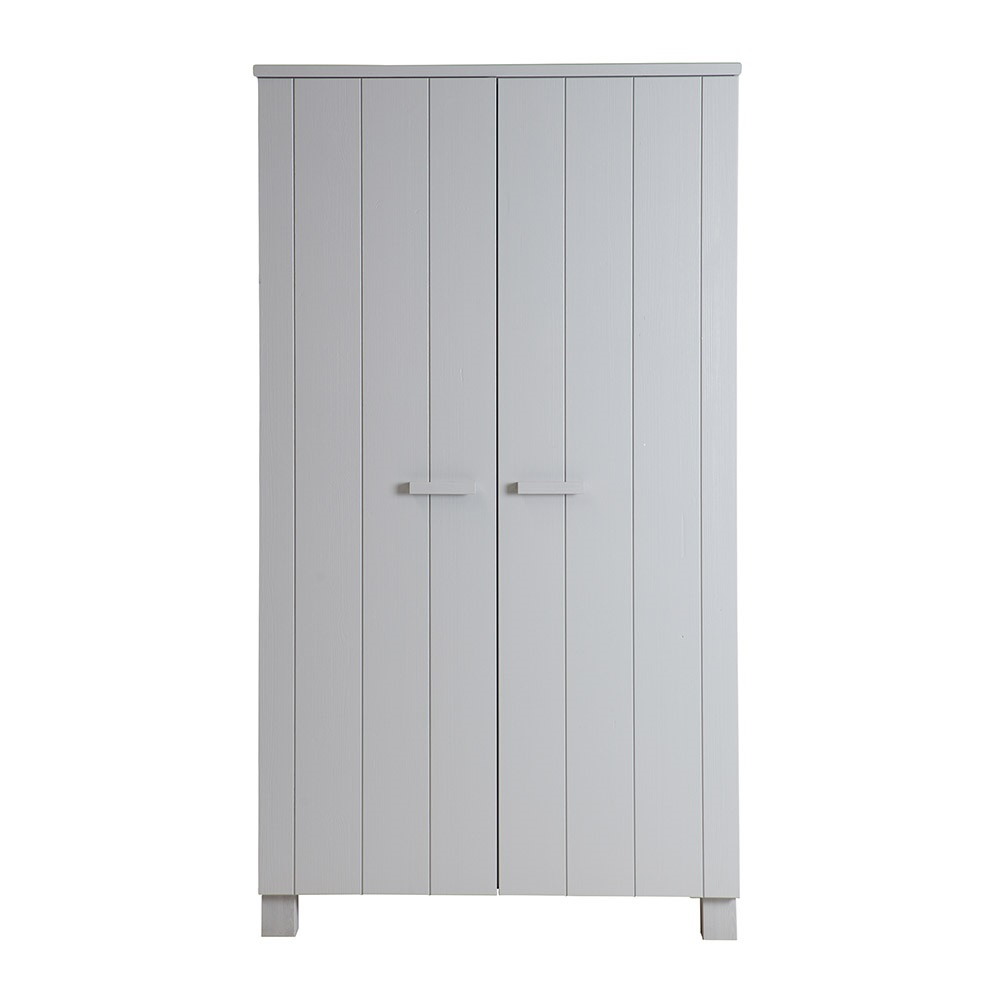 dennis kids contemporary pine wardrobe in concrete grey. Black Bedroom Furniture Sets. Home Design Ideas