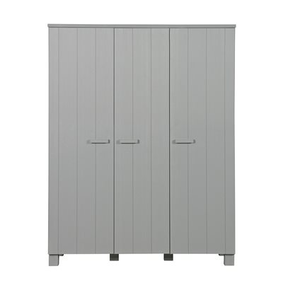 DENNIS KIDS CONTEMPORARY TRIPLE WARDROBE in Concrete Grey