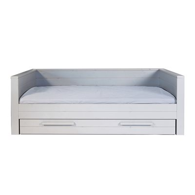 DENNIS DAY BED WITH TRUNDLE DRAWER in Concrete Grey