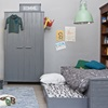 Bed with Trundle Drawer in Grey