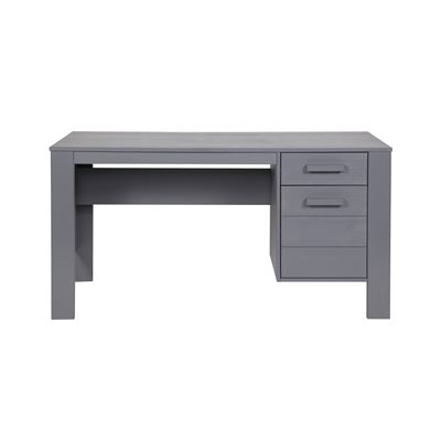 DENNIS COMPUTER & OFFICE DESK in Steel Grey