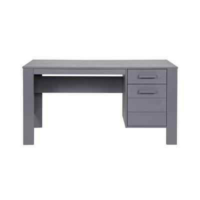 DENNIS COMPUTER & OFFICE DESK in Steel Grey
