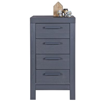 DENNIS NARROW CHEST OF DRAWERS in Steel Grey