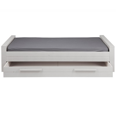 DENNIS KIDS SINGLE BED in White with Optional Trundle Drawer