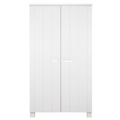 DENNIS KIDS CONTEMPORARY PINE WARDROBE in White