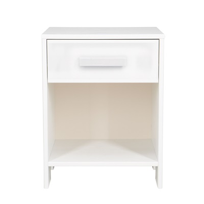 DENNIS KIDS BEDSIDE TABLE WITH DRAWER in White by Woood