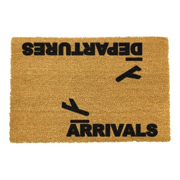Artsy Doormats Arrivals and Departures Door Mat