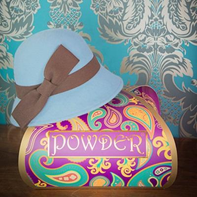 DORIS Pure Wool Designer Women's Hat in Blue & Chocolate