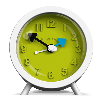 NEWGATE FRED Retro Alarm Clock in White