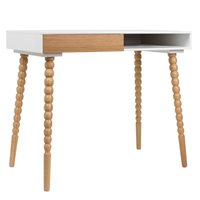 ZUIVER SCANDINAVIAN DESK WORKSTATION in White & Oak