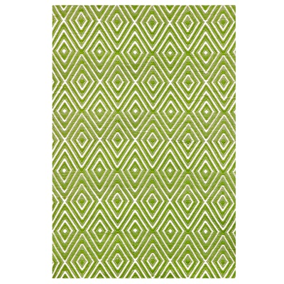 INDOOR OUTDOOR DIAMOND RUG in Sprout Green