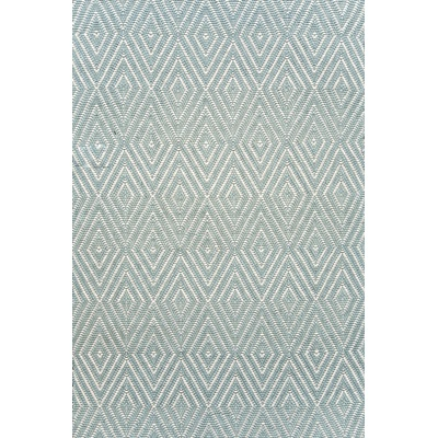 INDOOR OUTDOOR DIAMOND RUG in Light Blue