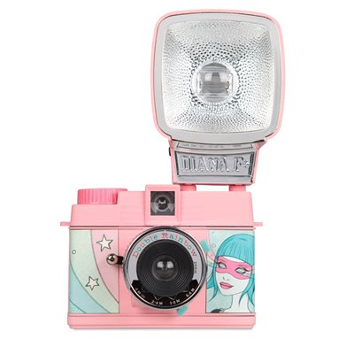 LOMOGRAPHY DIANA MINI CAMERA & FLASH PACKAGE - Double Rainbow