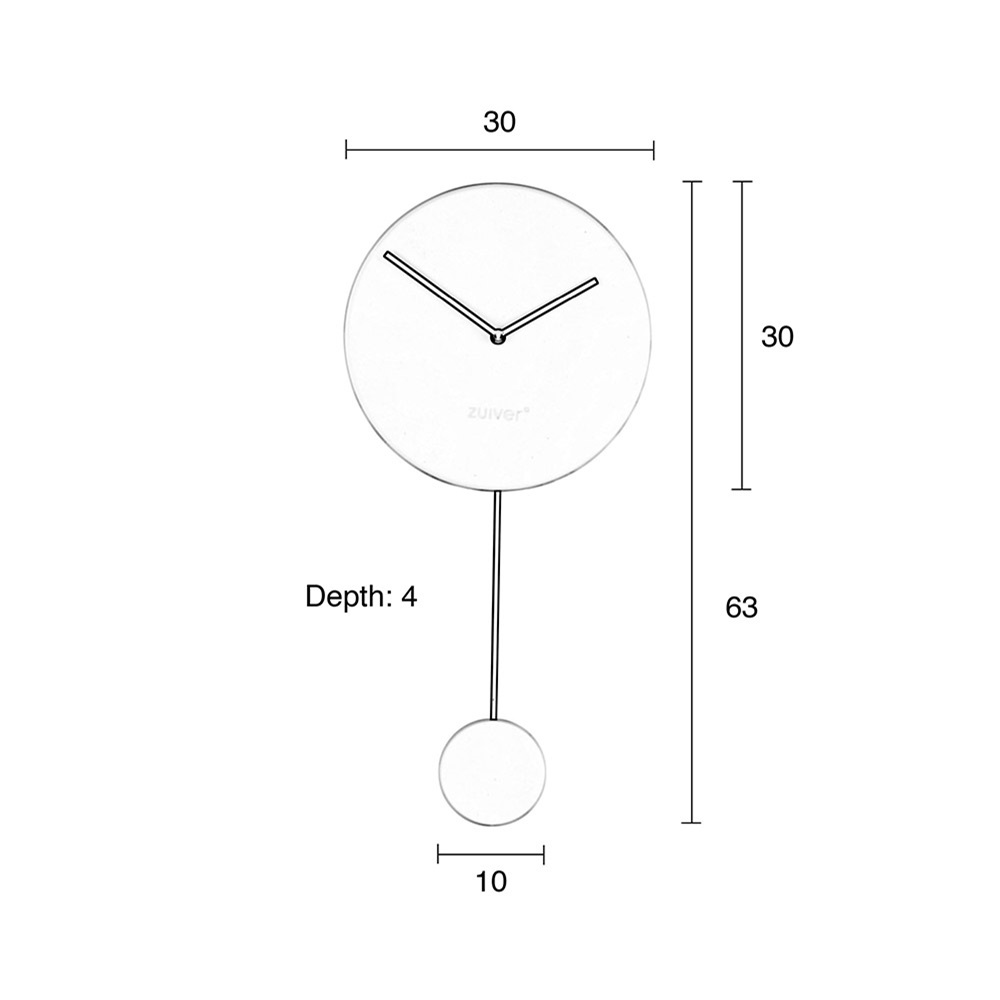 Zuiver minimal wall clock in grey wall clocks cuckooland dimensions for minimal wall clockg ccuart Choice Image