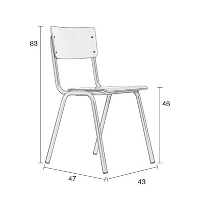 school chair drawing. Brilliant Chair DimensionstoZuiverBacktoSchoolChairjpg To School Chair Drawing 5