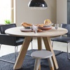 Wooden Stool In Grey Scandi Style