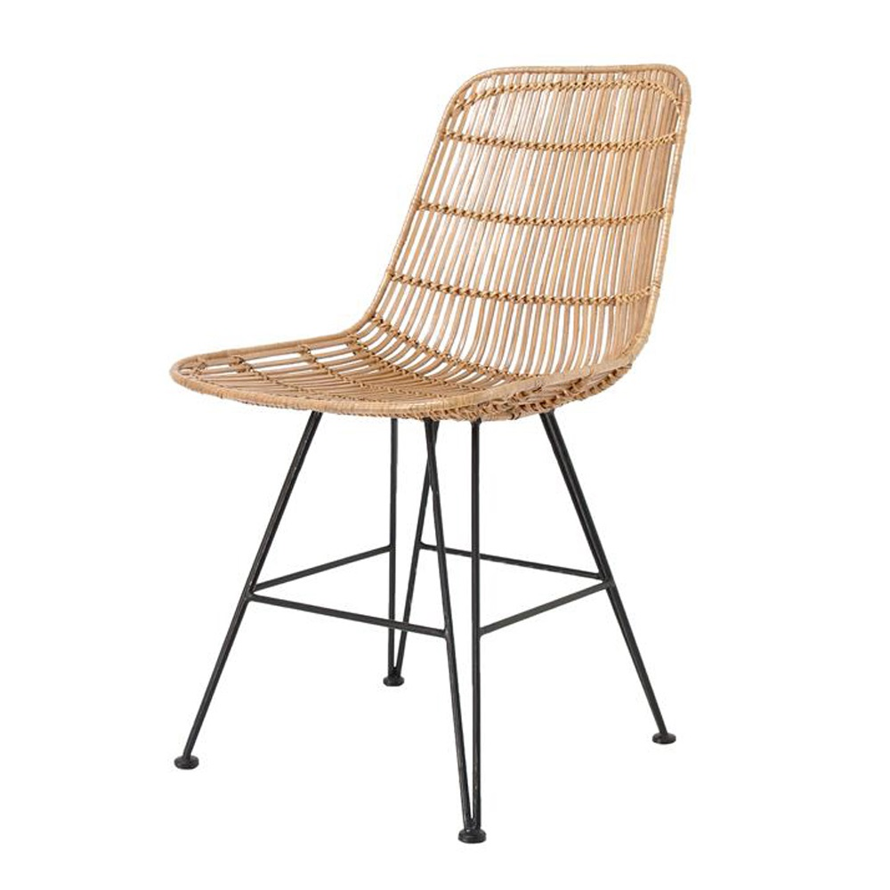 Scandi Style Rattan Dining Chair In Natural