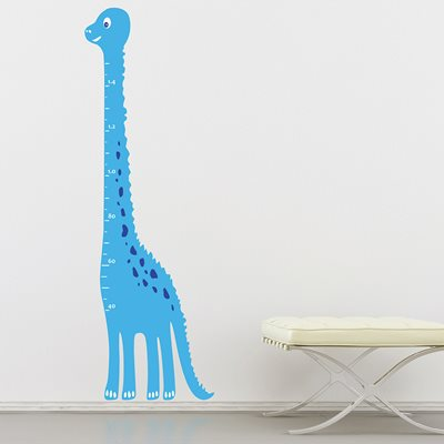 KIDS WALL STICKER in 'Dinosaur Height Chart' design.