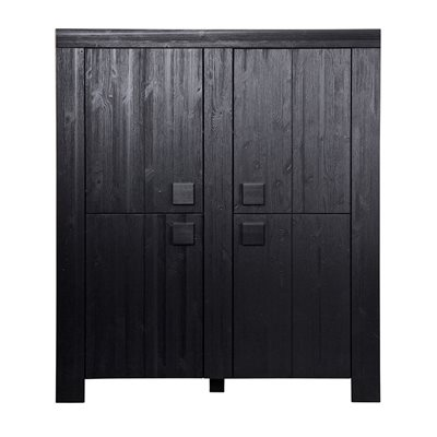 DIRK LARGE SCANDINAVIAN 4 DOOR CABINET in Black