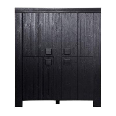 DIRK LARGE SCANDINAVIAN 4 DOOR CABINET in Black