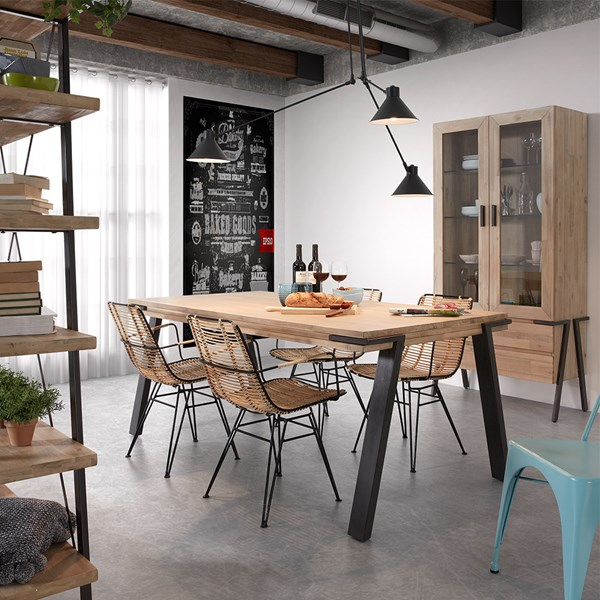 Industrial Solid Wood Kitchen Table