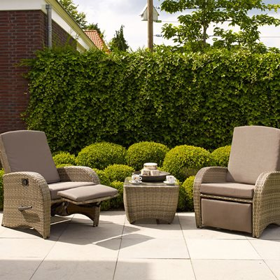 DIVA RECLINING RATTAN SET in Brown