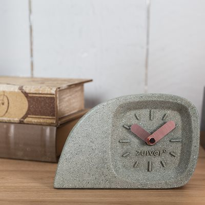 DOBLO DESK CLOCK in Concrete Finish