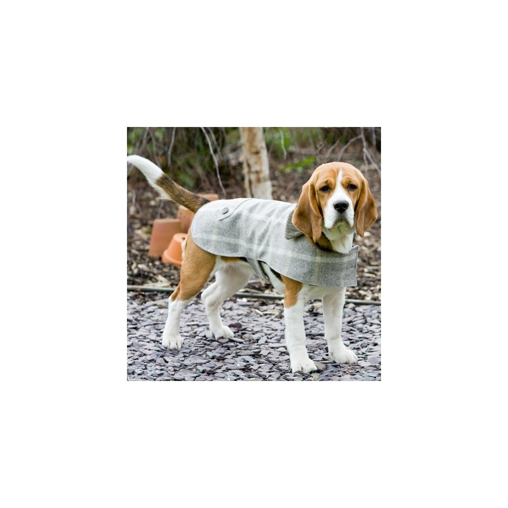 TWEED DOG COAT in Slate Tweed Design - Pet Fashion | Cuckooland