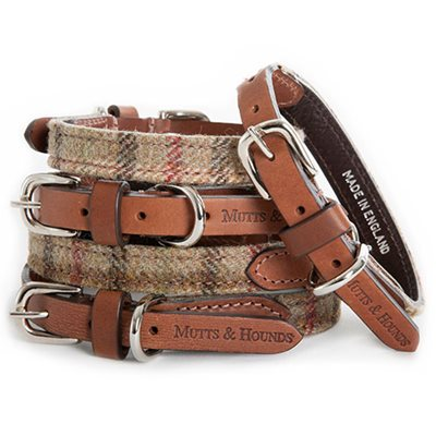 DESIGNER DOG COLLAR in Balmoral Check Tweed